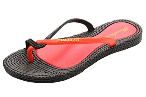 Sandali Donne Vacanza Flops Toe Pantofole Nero Peep Minetom Spiaggia Flip Estate xIqUPda