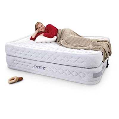 Intex Supreme Air-Flow Airbed with Built-in Electric Pump, Twin