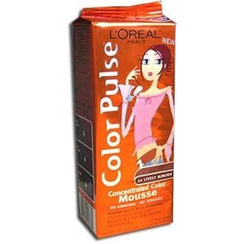 loreal mousse de coloration non permanente color pulse 50 auburn vitamin - Coloration Non Permanente