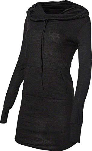 TYR Womens Coverups Zoe Hooded Dress, 001 Black, Medium
