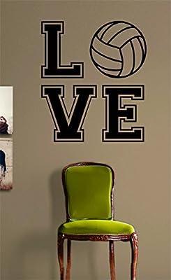 Crystal Emotion Volleyball Love Version 2 Sticker Wall Art Vinyl Sports Kid Boy Girl Teen Heart For You