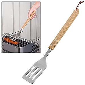 CostMad barbacoa barbacoa espátula de acero inoxidable parrilla comida hamburguesa carne verduras Flipper Turner Herramienta De Cocina Cocinar utensilios de servir