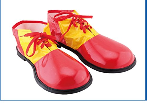 Red Gold Clown Shoes Hallowma Costumes Cloth Christmas