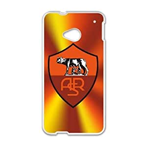Plastic Case Tmnpay HTC One M7 Cell Phone Case White As Roma Logo Generic Design Back Case Cover