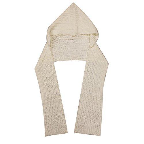 City Hunter H310 6 Ways to wear Hood Scarf Version 2 (Ivory White)