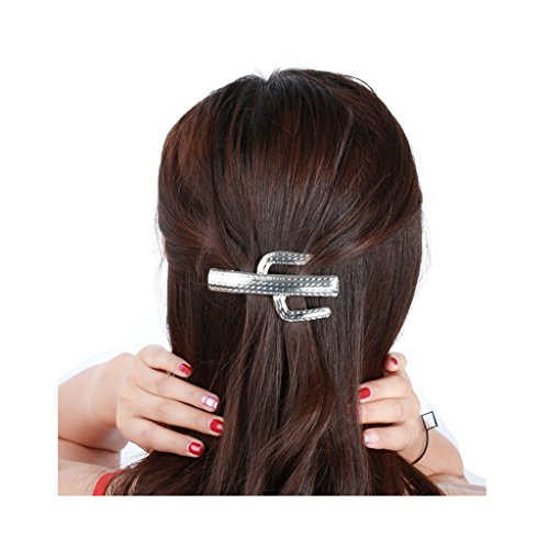 Plated Club - CHUYUN Fashion Trendy Headdress Alloy Exquisite Cactus Hairgrips Hairpins Punk Hair Clips Club Party Golden Plated Hair Accessories (Silver)