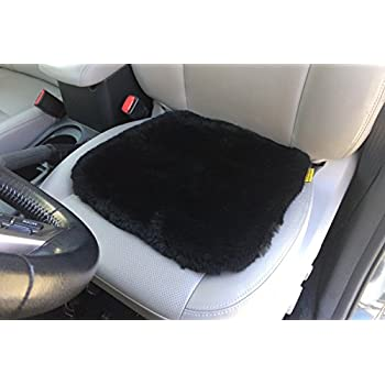 Natural Sheepskin Leather Shearling Seat Pad Cover For Auto Car Office Kitchen Travel Home
