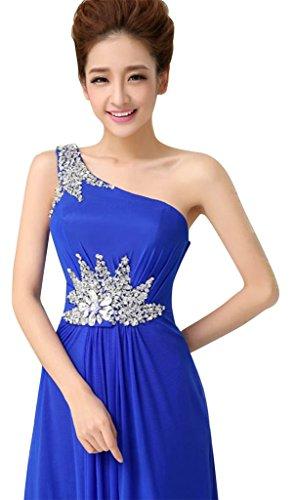 Damen Shoulder Blau Drasawee One Königsblau Kleid SBWWdnq