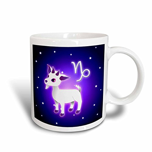 3dRose mug_2 8558_2 Cute Astrology Capricorn Zodiac Sign Goat Ceramic Mug, 15-Ounce
