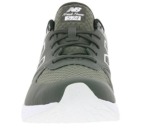 New Balance Hombre 574 T3 Breathe Story Formadores, Gris Gris