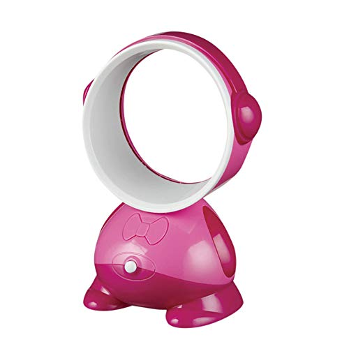 Desktop Bladeless Portable Fan Air Flow Cooling Cool Fan Low Low Noise (Hot Pink) ()