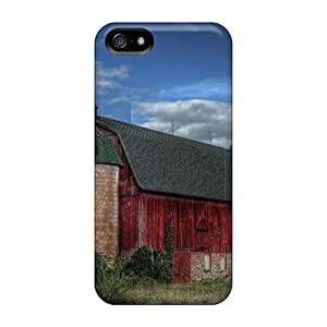 (hprVPNe7281KMuzM)durable Protection Case Cover For Iphone 5/5s(old Red Barn)