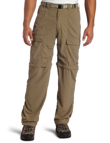 White Sierra Men's Trail 32-Inch Inseam Convertible Pant, Medium, Bark