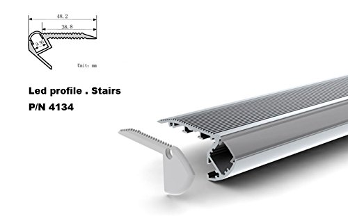 4134 U-shape Aluminum Channel - LED Aluminum Extrusion for Flex/hard LED Strip Light White/milk Cover (100cm/39.37inch)