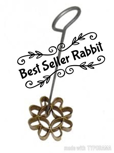 Best seller rabbit 1 X Thai Small Flower Dok Jok Mold Maker 2.5'' Brass Authentic, Dok Jik Dessert Sweet Baking Mold, By