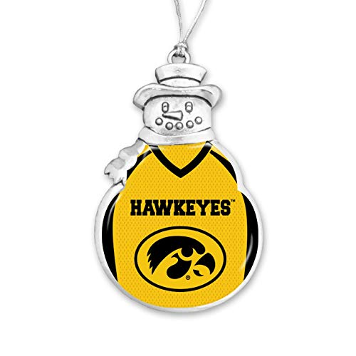 From the Heart University of Iowa Christmas Ornament - Snowman with Football Jersey (Christmas Iowa University Ornaments Of)