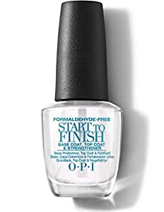 OPI Start-to-finish Base Coat, Top Coat and Nail Strengthener, 0.5-Fluid Ounce