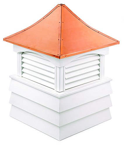 107'' Handcrafted ''Hyde Park'' Copper Roof Vinyl Cupola by CC Home Furnishings