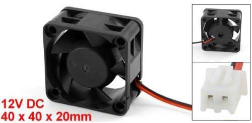 SODIAL(R) Ventilador de Refrigeracion 12V CC 40mm 20mm para CPU de ...