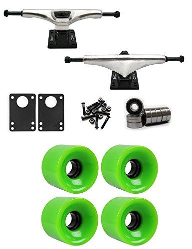 スケジュールヒゲ整理するコア6.0 Longboardトラックホイールパッケージ62 mm x 51.5 MM 83 A 375 Cグリーン