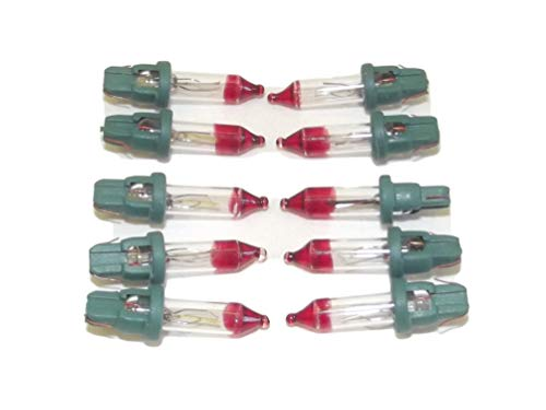 10x Mini Bulb Flashers, 2.5 Volt V .425 Watt W 10 Clear Regular Incandescent Indoor Outdoor Bulbs Christmas Tree Lights Replacement. Makes Lights Flash by JLMissouri Parts Base Style D -