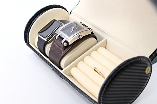 Amazoncom Executive High class Cufflink Case Ring Storage