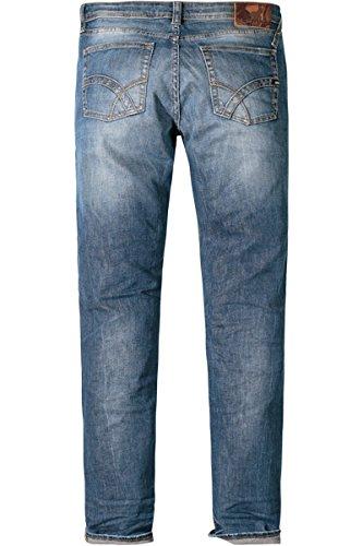 GAS Herren Jeans Baumwolle Denim-Hose Unifarben, Größe: 36/32, Farbe: Blau