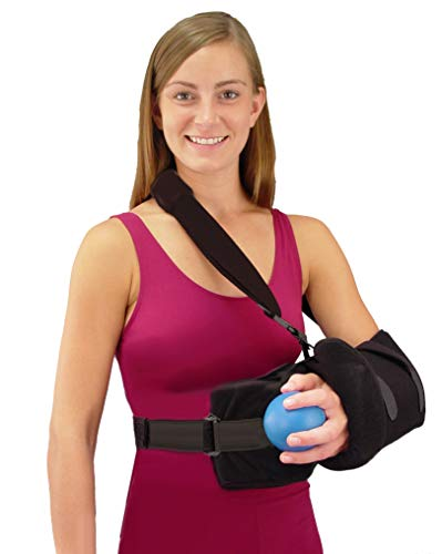Abduction Sling - Universal Shoulder Rotator Cuff Sling Immobilizer with Abduction Pillow and Exercise Ball