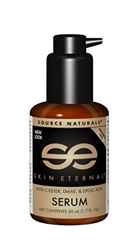 Source Naturals Skin Eternal Serum Moisturizing Skin Food for Face & Neck with C-Ester, DMEA, Lipoic Acid & More - Paraben Free Lotion Promotes Soft, Smooth, Younger Looking Skin - - Biotin Naturals Source