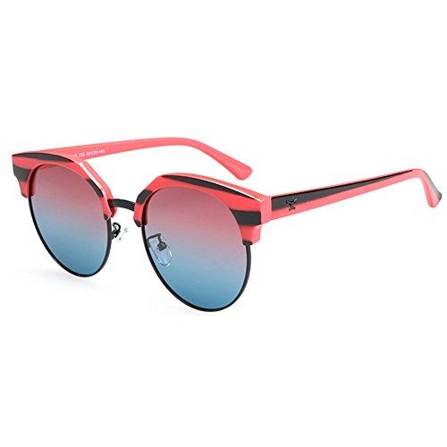 Viaje Unisex Gafas Gafas Personalidad De Anti Sol Polarizado Moda Red Conducción De Medio Pink Ultravioleta De De Marco wwqH0rP