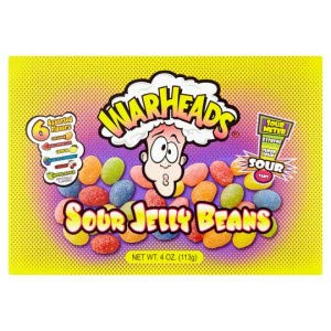 Warheads Sour Jelly Beans 113g (Pack of 12) -