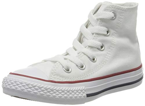 Converse Chuck Taylor All Star Hi Shoes - Girls' Optical White, 12.0 (All Shoes Girls Star White For)