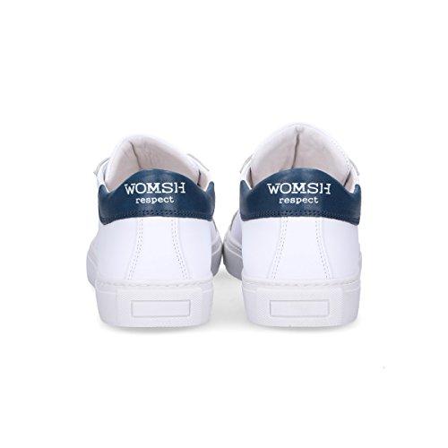 Womsh Mænd S180253 Hvide Læder Sneakers edxez7saH