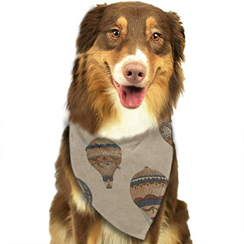 OURFASHION Colorful Hot Air Balloon Bandana Triangle Bibs Scarfs Accessories for Pet Cats and Puppies]()