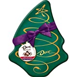 Dove Milk Chocolate and Dark Chocolate Truffles Tree Box Tin Christmas Candy Gift, 5.64-Ounce Tin (Ribbon Color May Vary)