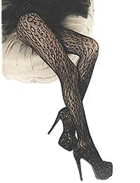 Killer Legs Wild Leopard Black Fishnet Tights by Yelete Queen Size