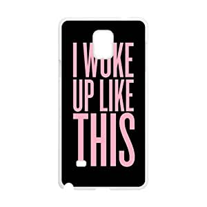Pink Simple discourse Cell Phone Case for Samsung Galaxy Note4