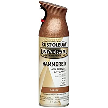 Rust-Oleum 247567 Universal All Surface Spray Paint, 12 oz, Hammered Copper