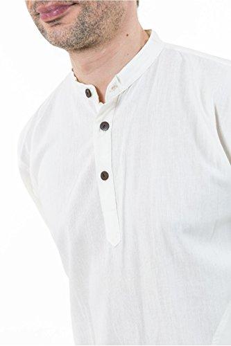 - Chemise coton nepalais 3 boutons 1 poche - XXXL - (48-50)