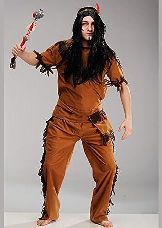 Magic Box Disfraz de Indio Nativo para Hombre Adulto Large (42-44 ...