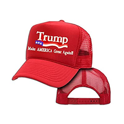 Make America Great Again! Donald Trump 2016 Republican Red Mesh Trucker Cap Hat