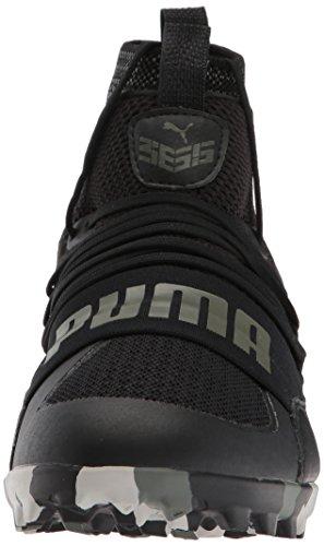 Puma Heren 365.18 Ignite Hoge St Voetbalschoen Puma Zwart-vuur Scharlaken-castor Grijs