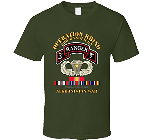 LARGE - Sof - Operation Rhino - Afghanistan - 3rd Ranger Bn W Svc - Military Green ()