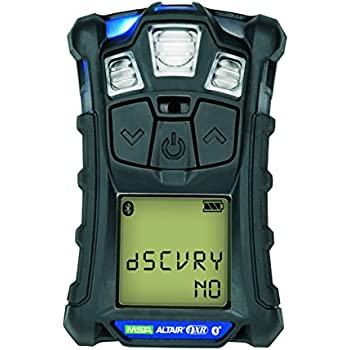 Msa 10178557 Altair 4XR Multigas Detector: LEL, O2, H2S & CO, Charcoal, North American Charger