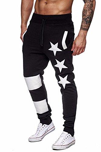 Farjing Men's Sweatpant Clearance, Men Casual Jogger Dance Sportwear Baggy Slim Designed Pants Slacks Sweatpant(XL,Black) by FarJing