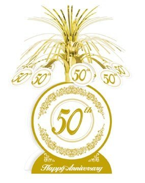 Beistle - 50516 - 50th Anniversary Centerpiece- Pack of -