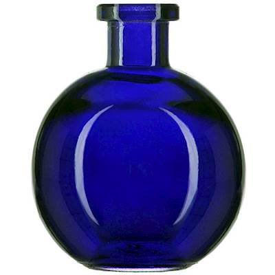 Courtney's Candles Cobalt Blue 8.5 Ounce Ball Glass Vase