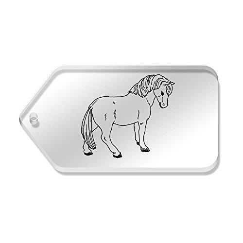 10 Azeeda 34 mm trasparenti Etichette 'Cute X Pony' 66 tg00060595 HqwrgqUdx