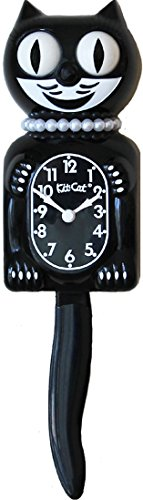 Kit Cat Klock Limited Edition Lady (Black) (Black Cat Clock With Moving Eyes And Tail)