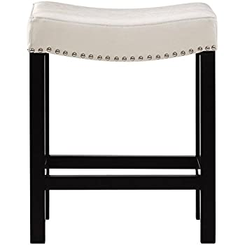Amazon Com Curved Nailhead Counter Stool 24 Quot H Counter